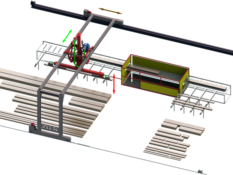 Вакуумный захват автоматический для перемещения слоя досок